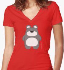 Bear Toy - Polar Women's Fitted V-Neck T-Shirt