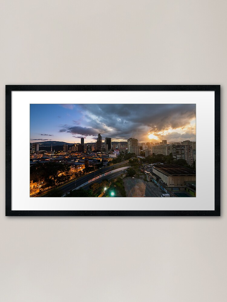Alternate view of Caracas Skyline Framed Art Print