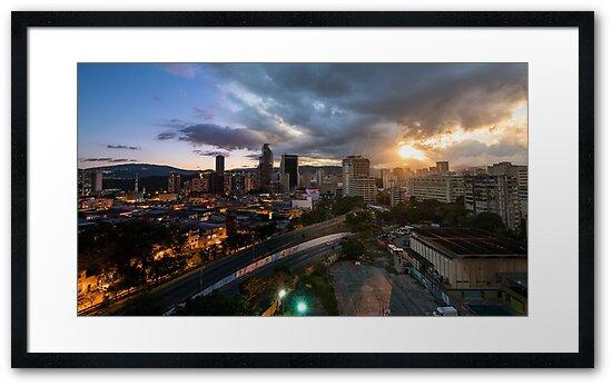 Caracas Skyline by Mattia  Bicchi Photography