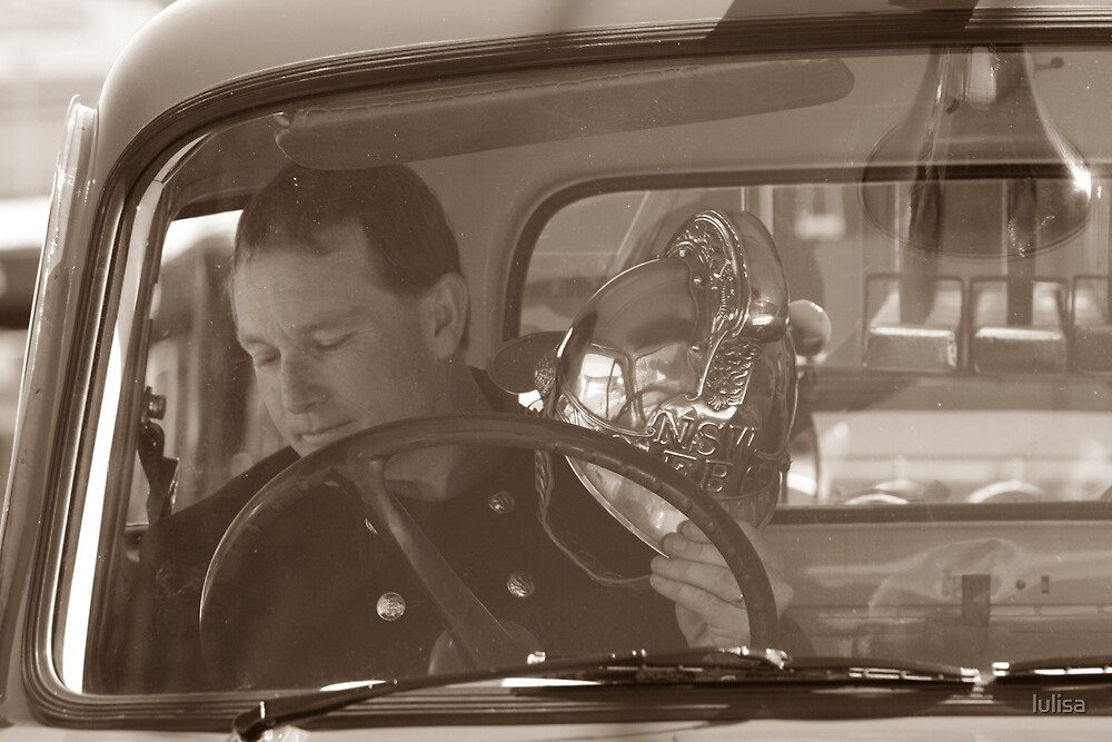 Mark in the old Bedford fire truck  by lulisa