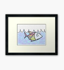 Wire Fish Framed Print