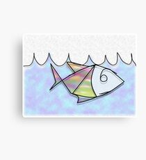 Wire Fish Canvas Print