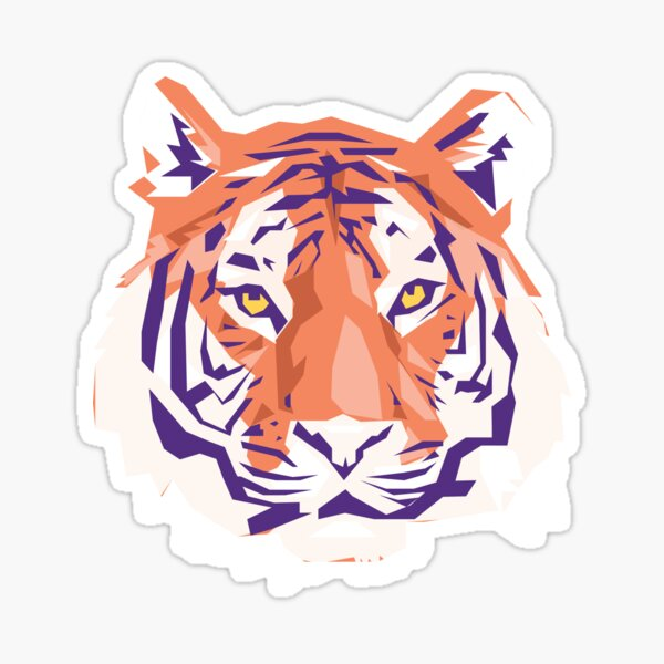 Geometric Clemson Tiger Sticker