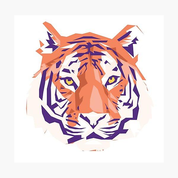 Geometric Clemson Tiger Photographic Print