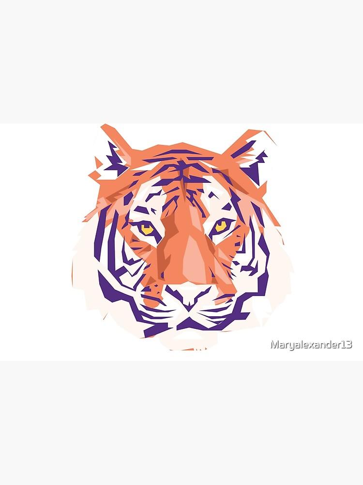 Geometric Clemson Tiger by Maryalexander13