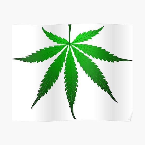 cannabis, cannabis leaf, Poster