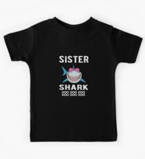 Schwester Shark Familie Shark Matching Geschenk Kinder T-Shirt