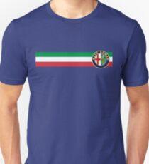 Alfa Romeo horizontal Italy stripe Unisex T-Shirt