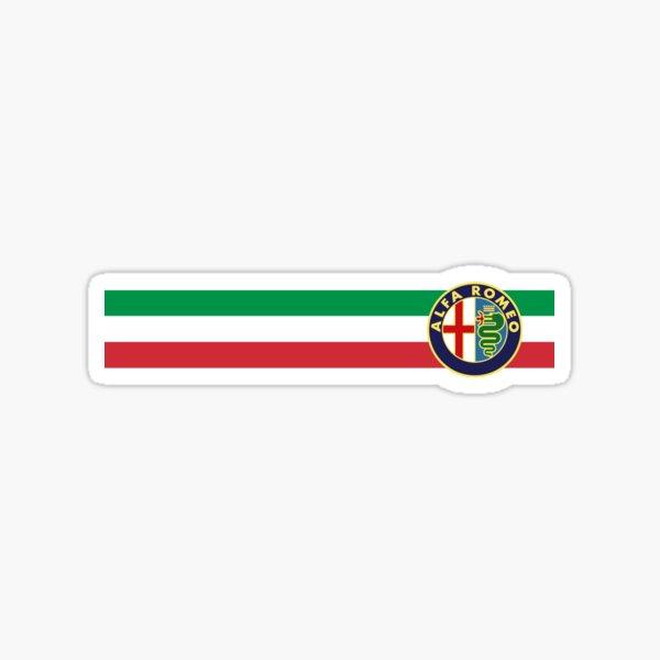 Alfa Romeo horizontal Italy stripe Sticker