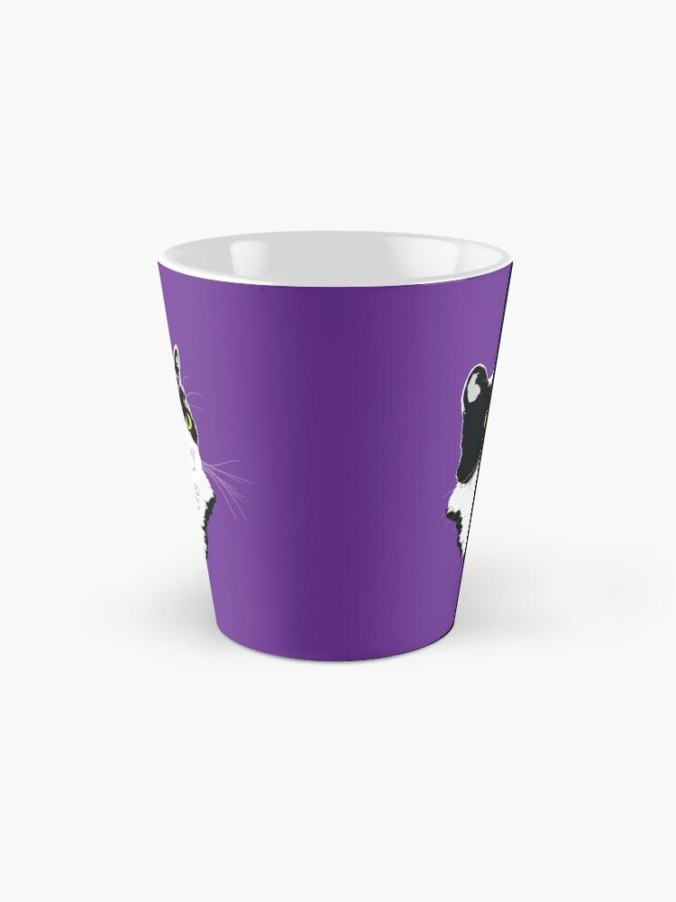 Alternate view of Regal Tuxedo Kitty Mug