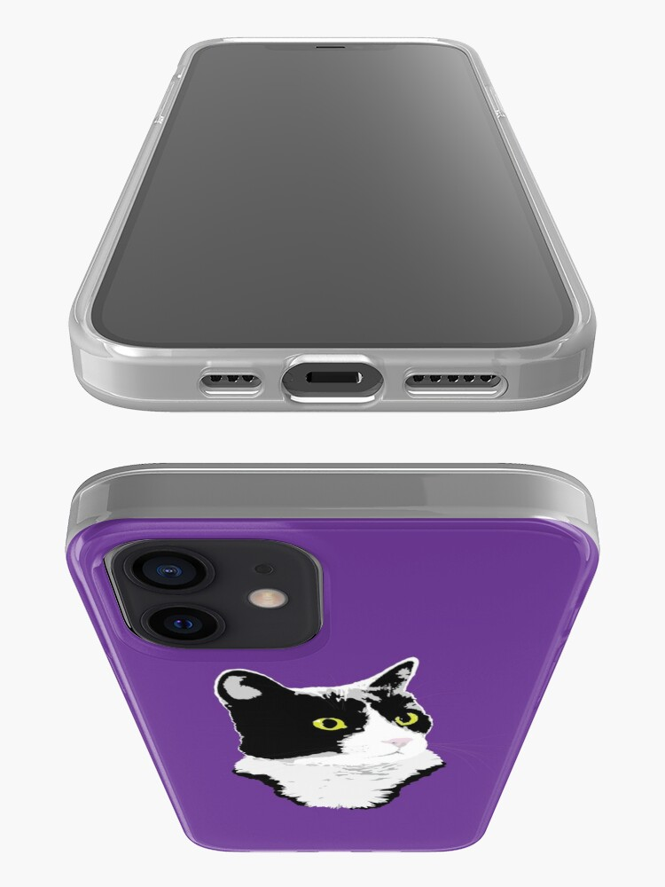 Alternate view of Regal Tuxedo Kitty iPhone Case & Cover