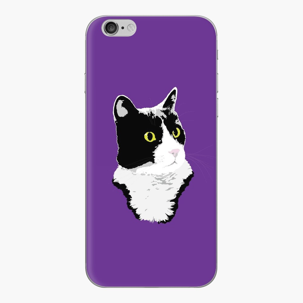 Regal Tuxedo Kitty iPhone Skin