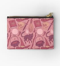 Witch Supplies in Dusty Rose Zipper Pouch