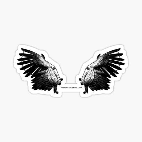Steel Wings on Color Ground Sticker