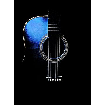 Blue Acoustic Guitar Hi-Lite by Ra12