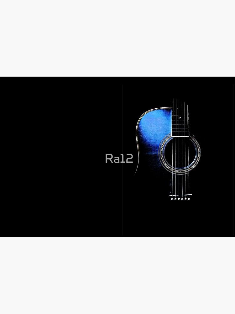 Blue Acoustic Guitar Hi-Lite by Ra12