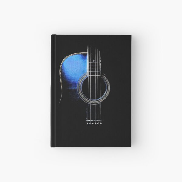 Blue Acoustic Guitar Hi-Lite Hardcover Journal