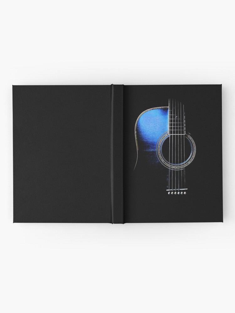 Alternate view of Blue Acoustic Guitar Hi-Lite Hardcover Journal