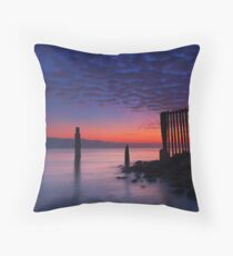 Shorncliffe sunrise Throw Pillow