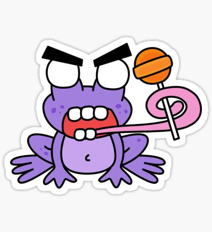 angry zombie frog pop Glossy Sticker