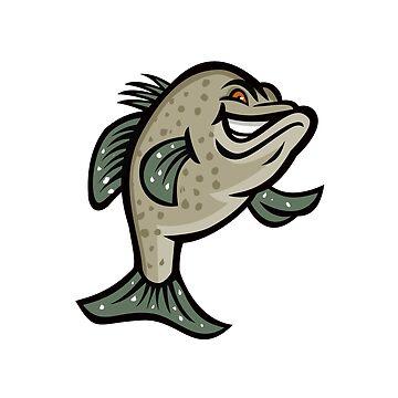 Crappie Fish Standing Mascot by patrimonio