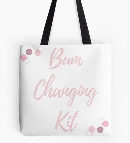 Bum Changing Kit - Navy and Pink Tote Bag
