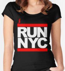 Camiseta entallada de cuello redondo Run NYC