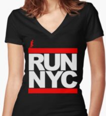 Run NYC Women's Fitted V-Neck T-Shirt