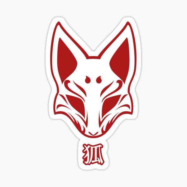 Kitsune Mask Sticker
