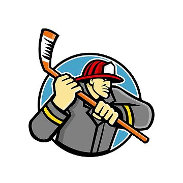 Fireman Ice Hockey Mascot by patrimonio