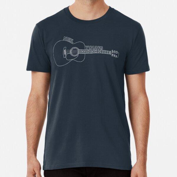 Guitarra Acústica Neil Young (Blanco) Camiseta premium