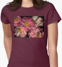 Peonies Womens Fitted T-Shirt
