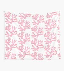 Pink Sea Coral with Faux Glitter Wall Tapestry