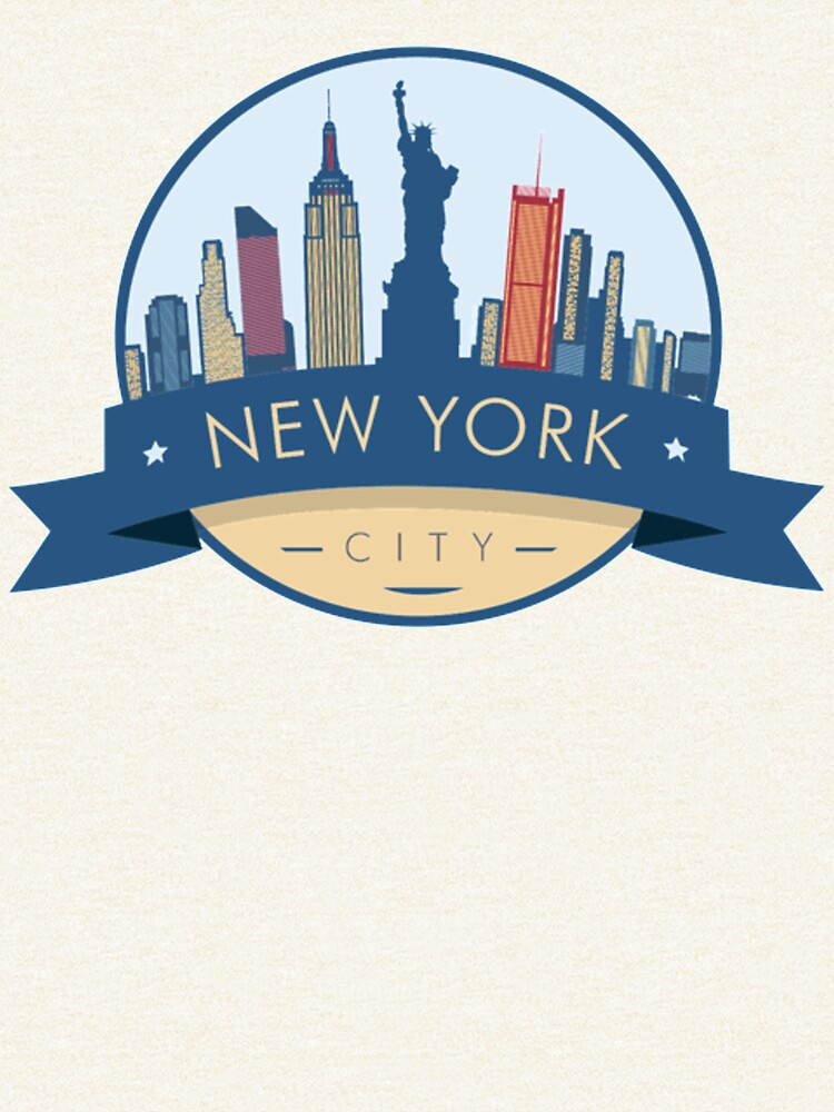 """New York City Skyline"" Pullover Hoodie By NicuMan"