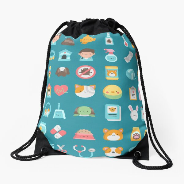 CUTE VET / VETERINARIAN PATTERN Drawstring Bag