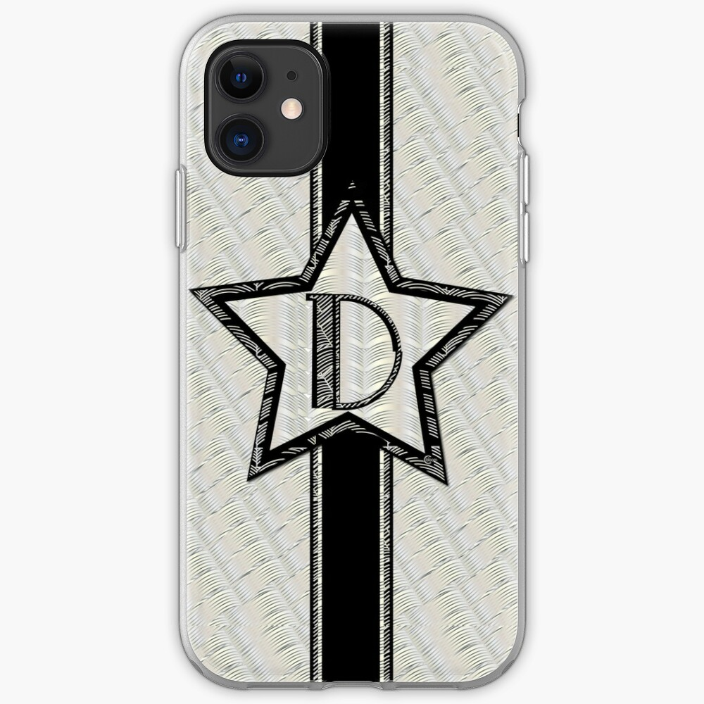 Star of the Show Art Deco Monogram D iPhone Case & Cover