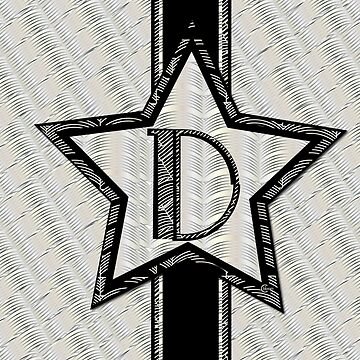 Star of the Show Art Deco Monogram D by CecelyBloom
