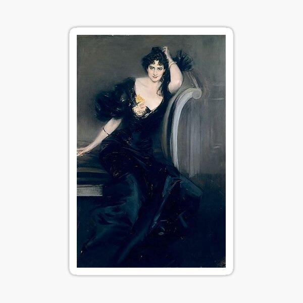 """""""Lady Colin Campbell"""" -Giovanni Boldini(1897)  Sticker"""