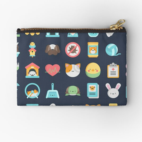 CUTE VET / VETERINARIAN PATTERN Zipper Pouch