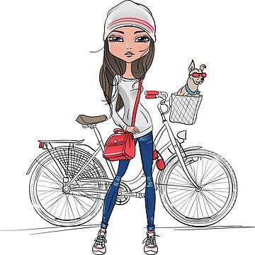 Girl on Bike by ScrivK
