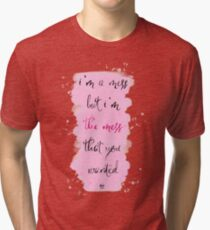 Taylor Swift Lyric Art | Dancing With Our Hands Tied Tri-blend T-Shirt
