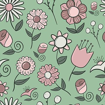 Simple Floral Pattern by pamela4578