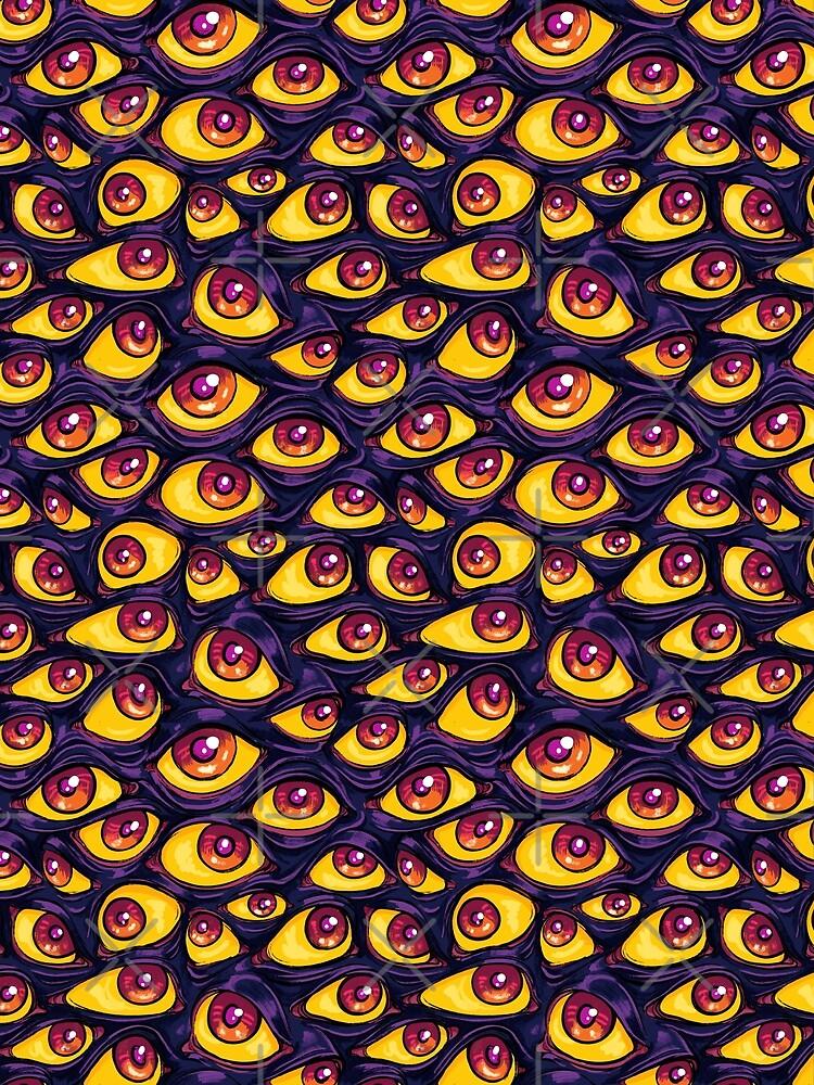 Wall of Eyes in Dark Purple by paisleydrawrrs