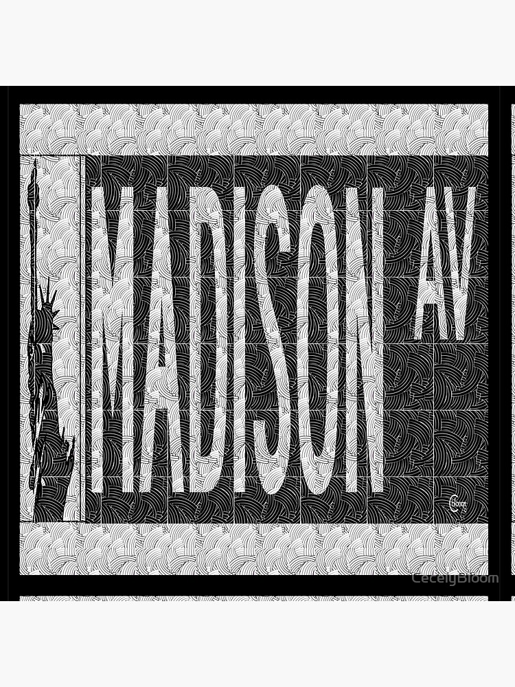Madison Avenue NYC Pop Art Deco Street Sign by CecelyBloom