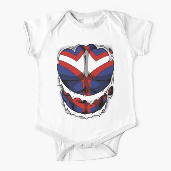 All Might costume Short Sleeve Baby One-Piece