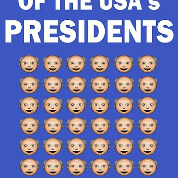The History of The USA Presidents Emoji Style by magentasponge