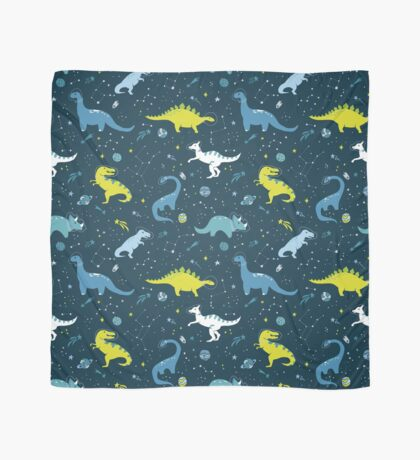 Space Dinosaurs in Bright Green and Blue Scarf