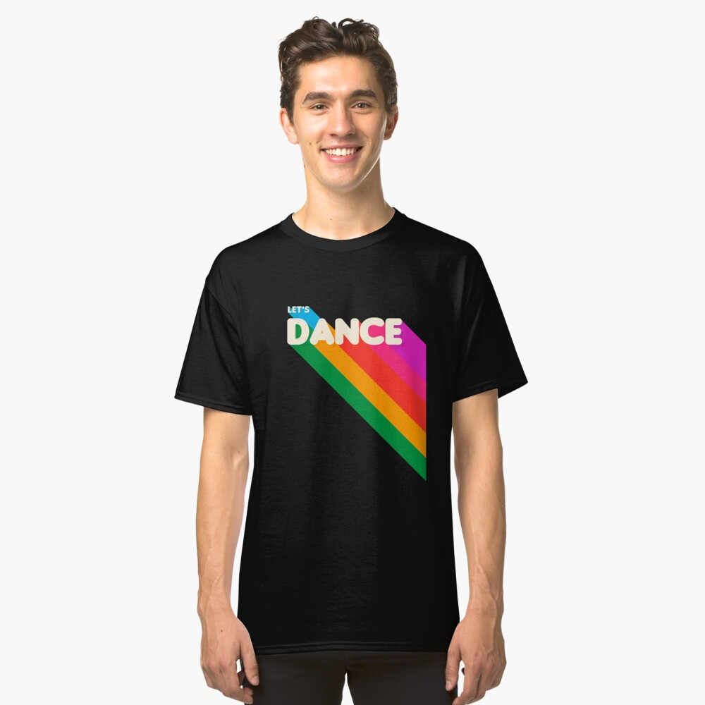 Rainbow dance typography Classic T-Shirt