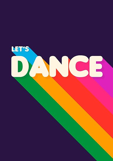 Rainbow dance typography by ShowMeMars