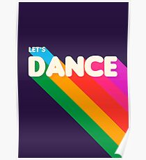 Rainbow dance typography Poster